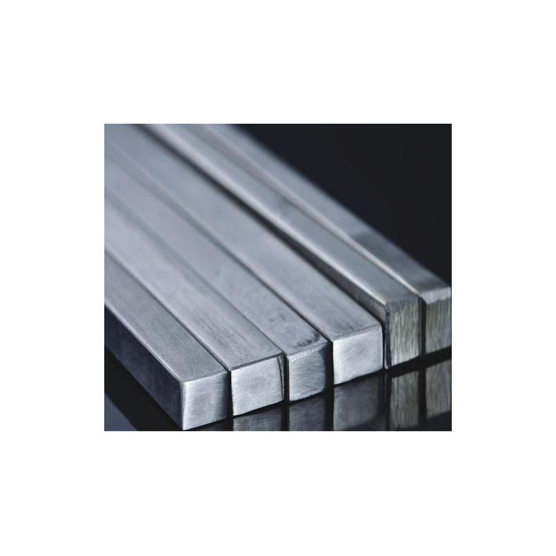 Barra quadrata in acciaio inossidabile barra piena quadrata profilata V2A, acciaio inossidabile