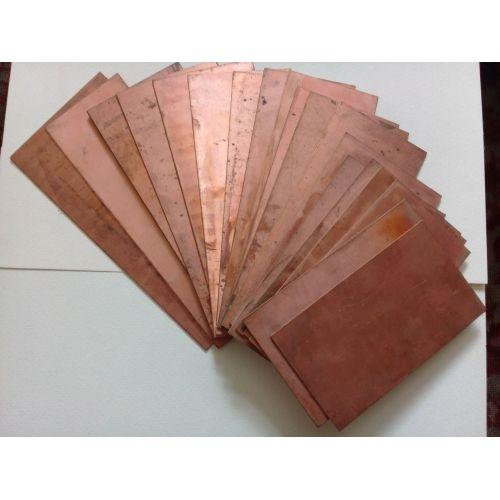 Elettrodo galvanico grezzo 10x200x50-10x200x1000mm in lamiera anodica pura al 99,9% in rame, rame
