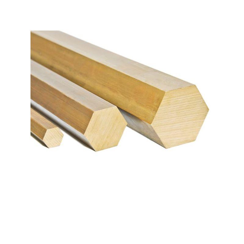 Ottone esagono Ø9mm 2.0401 CuZn33Pb3 Ms58 asta esagonale asta esagonale, ottone