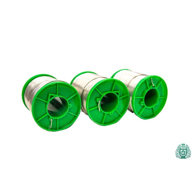 Stagno per saldatura Sn99Cu1 dia 1.5mm con liquido 2.5% senza piombo 25gr-1kg, saldatura e brasatura