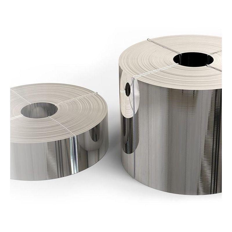 Nastro in acciaio inossidabile 1.4301 Lamina da 0,05x20mm a 0,4x200mm V2A 304 in lamiera
