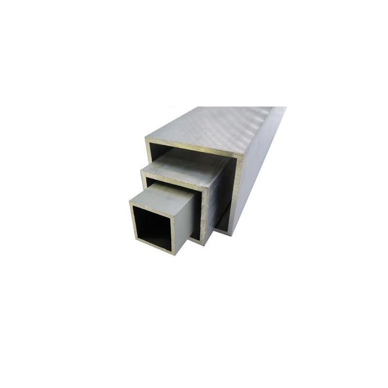 Tubo quadrato in alluminio 20x20x2-100x100x4mm AlMgSi0,5 tubo quadrato 0,2-2 metri