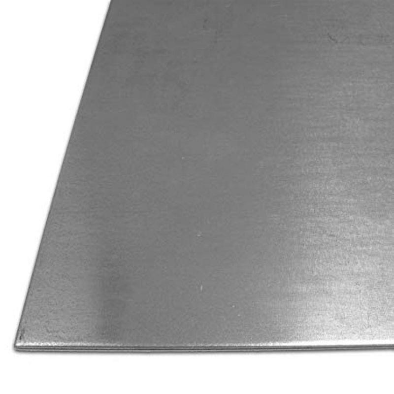 Lamiera di acciaio 1-4 mm Piastre S235 zincate Lamiere Piastra di acciaio da 100 mm a 1000 mm