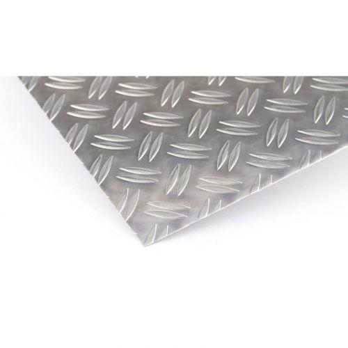 Piastra a scacchiera in alluminio Piastre Duett 1,5 / 2mm, piastre Al, piastra in alluminio, lamiera sottile