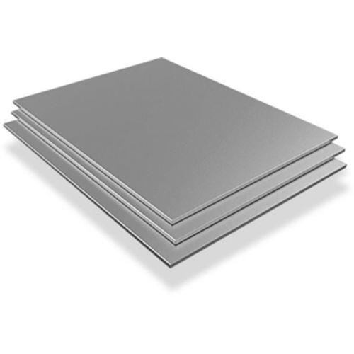 Lamiera di acciaio inossidabile 4mm-6mm V4A Wnr. 1.4571 fogli fogli tagliati a misura da 100 mm a 1000 mm