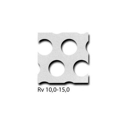 I pannelli in lamiera forata RV3-5 + RV5-8 + RV10-15 possono essere tagliati a misura, dimensione desiderata possibile 100 mm x