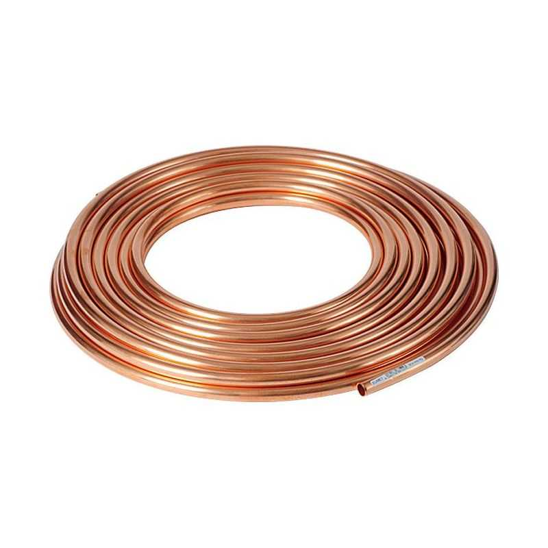 Tubo di rame 3x0,5 mm-4x1 mm ricotto morbido nell'acqua dell'anello OLIO GAS riscaldamento 1-50 metri,  rame