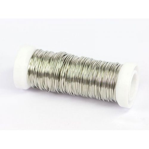 2-100 metri filo di rame, filo d'argento, filo artigianale, gioielli, placcato argento Ø0,5-1,2 mm, rame